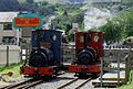 Two Hunslets at Llanberis station. (14395755177).jpg