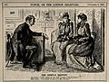 Two ladies visiting a doctor. Wood engraving by G. Du Maurie Wellcome V0011432.jpg