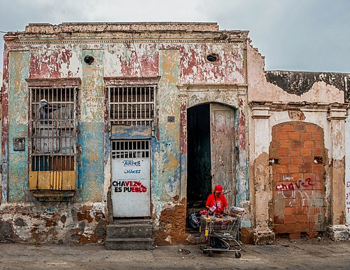 Casa colonial típica del centro de Maracaibo, Venezuela