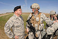 U.S. Air Force Master Sgt. William Hawley, left, with the National Guard Bureau, A7S Security Forces Directorate, and Senior Master Sgt. James Haygood, with the 219th Security Forces Squadron (SFS), North Dakota 130522-Z-WA217-578.jpg