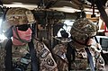 U.S. Army 1st Lt. Justin Blair, left, the executive officer of Echo Company, 1st Battalion, 294th Infantry Regiment, Guam Army National Guard, and Sgt. Joseph C. Mafnas Jr 131207-Z-WM549-005.jpg