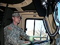 U.S. Army Spc. Anthony S. Rogers, with the 1257th Transportation Company, West Virginia Army National Guard, drives down Interstate 77 toward the Summit Bechtel Reserve in Mount Hope, W.Va., Jan. 12, 2014 140112-A-MJ412-358.jpg