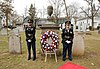 U.S. Army Staff Sgt. Tiffany Apholz and Staff Sgt. Ivelisse Febo, right, both assigned to the 99th Regional Support Command Honor Guard, stand by the grave site of President Grover Cleveland during a 130318-A-VX676-007.jpg