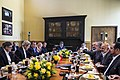 U.S. Defense Secretary Ash Carter, third from left, U.S. Treasury Secretary Jacob L. Lew, far left, and U.S. Secretary of State John F. Kerry, second from left, have a working lunch with Afghan President Ashraf 150323-D-DT527-285d.jpg