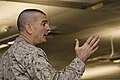 U.S. Marine Corps Sgt. Maj. Bryan B. Battaglia, the senior enlisted adviser to the chairman of the Joint Chiefs of Staff, speaks to U.S. Soldiers and Airmen with the Illinois National Guard at the 182nd Airlift 130406-Z-EU280-056.jpg