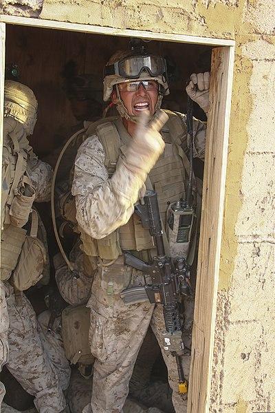 File:U.S. Marine Corps Staff Sgt. Damian Chacon, an infantryman ...