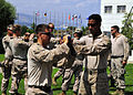 U.S. Marines assigned to the Marine Corps Security Force Europe's Fleet Anti-Terrorism Security Team practice crew control techniques at the NATO Maritime Interdiction Operational Training Center in Souda Bay 130822-N-MO201-052.jpg