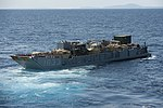 U.S. Navy Landing Craft Utility 1633 leaves the well deck of the amphibious assault ship USS Bonhomme Richard (LHD 6) in the East China Sea March 11, 2014 140311-N-LM312-072.jpg
