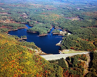 Piscataquog River - Everett Lake and Dam on the Piscataquog River in Merrimack County