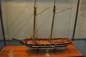 USS Shark (1821) - Image: USS Shark Model