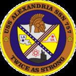 USS Alexandria SSN-757 Crest.png
