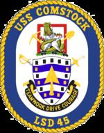 USS Comstock LSD-45 Crest