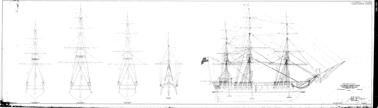 File Uss Constitution Rigging Plan Png Wikimedia Commons