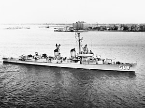 USS Cony (DDE-508) in Hampton Roads 1957