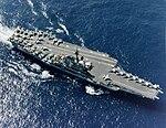 USS Coral Sea (CV-43) underway at sea in 1986