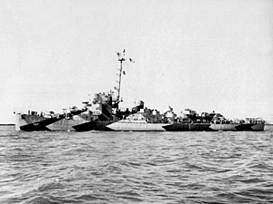 USS Finnegan (DE-307) off the Mare Island Naval Shipyard on 24 September 1944