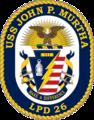 USS John P. Murtha LPD-26 Crest.png