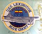 USS Lexington (CV-16) patch - Oregon Air and Space Museum - Eugene, Oregon - DSC09807.jpg