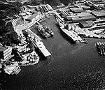 USS Yorktown (CVS-10) and USS Bennington (CVS-20) at Yokosuka in 1963.jpg