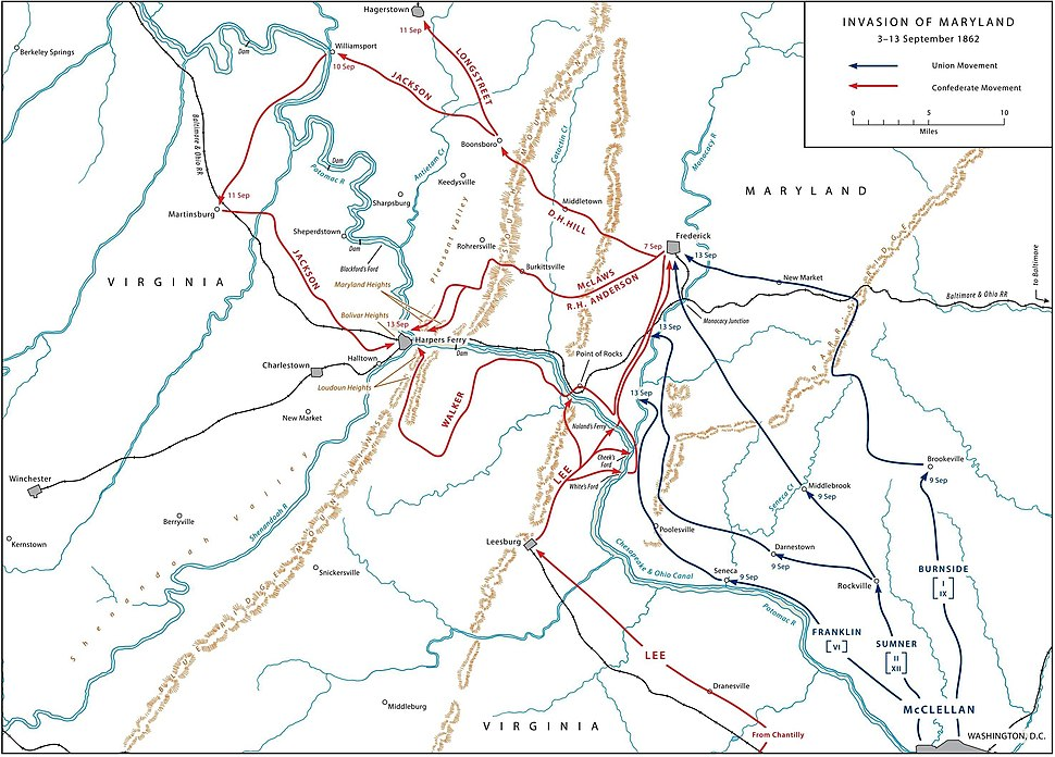 US ARMY MARYLAND CAMPAIGN MAP 1