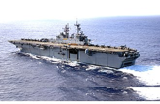 USS Bonhomme Richard (LHD-6) - Image: US Navy 030127 N 1352S 009 The amphibious assault ship USS Bonhomme Richard (LHD 6)