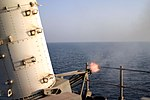 US Navy 041017-N-0922G-001 The destroyer USS Spruance (DD 963) conducts a Close-in Weapons System (CWIS) live fire test during a Pre-Aim Calibration Fire (PACFIRE) in the Arabian Gulf.jpg