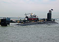 US Navy 041018-N-2820Z-001 The Navy's newest attack submarine, PCU Virginia (SSN 774), pulls into port at Naval Station Norfolk, Va., in preparation for her commissioning on October 23, 2004.jpg