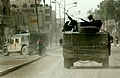US Navy 050129-N-1810F-153 U.S. Navy Seabees assigned to Naval Mobile Construction Battalion Twenty Three (NMCB 23) patrol the streets of Fallujah, one day prior to Iraq's historic democratic elections.jpg