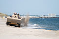 US Navy 070501-N-0193M-365 During a capabilities exercise, Amphibious Vehicle Test Branch demonstrates the maneuverability of an Expeditionary Fighting Vehicle (EFV) for Department of Defense personnel at Naval Amphibious Base.jpg
