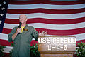 US Navy 070829-N-6410J-098 Adm. Robert F. Willard, commander of U.S. Pacific Fleet, addresses Pacific Partnership members aboard amphibious assault ship USS Peleliu (LHA 5) during an all hands call.jpg