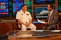 US Navy 091026-N-6220J-003 Rear Adm. W. Mark Skinner, program executive officer for Tactical Aircraft Programs, is interviewed by a morning news anchor on Fox 26-TV in Houston, Texas.jpg