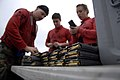 US Navy 100127-N-2475A-042 Sailors load magazine clips in preparation of an M-16 gun qualification shoot aboard the Nimitz-class aircraft carrier USS John C. Stennis (CVN 74).jpg