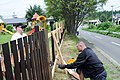 US Navy 100726-N-2653B-075 Volunteers from the Naval Air Facility Misawa First Class Petty Officer Association paint a fence of the Bikou-en Childrens Home to help improve safety.jpg