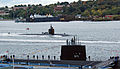 US Navy 101015-N-0668P-020 The Los Angeles-class attack submarine USS Pittsburgh (SSN 720) passes the Historic Ship Nautilus as it transits the Tha.jpg