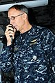US Navy 110330-N-IC111-027 Vice Adm. Scott Van Buskirk, commander of U.S. 7th Fleet, addresses the crew through the 1MC aboard the aircraft carrier.jpg