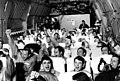 US POWs cheer in C-141 1973.jpg