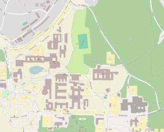 Umeå University - Map of Umeå University, from OpenStreetMap.
