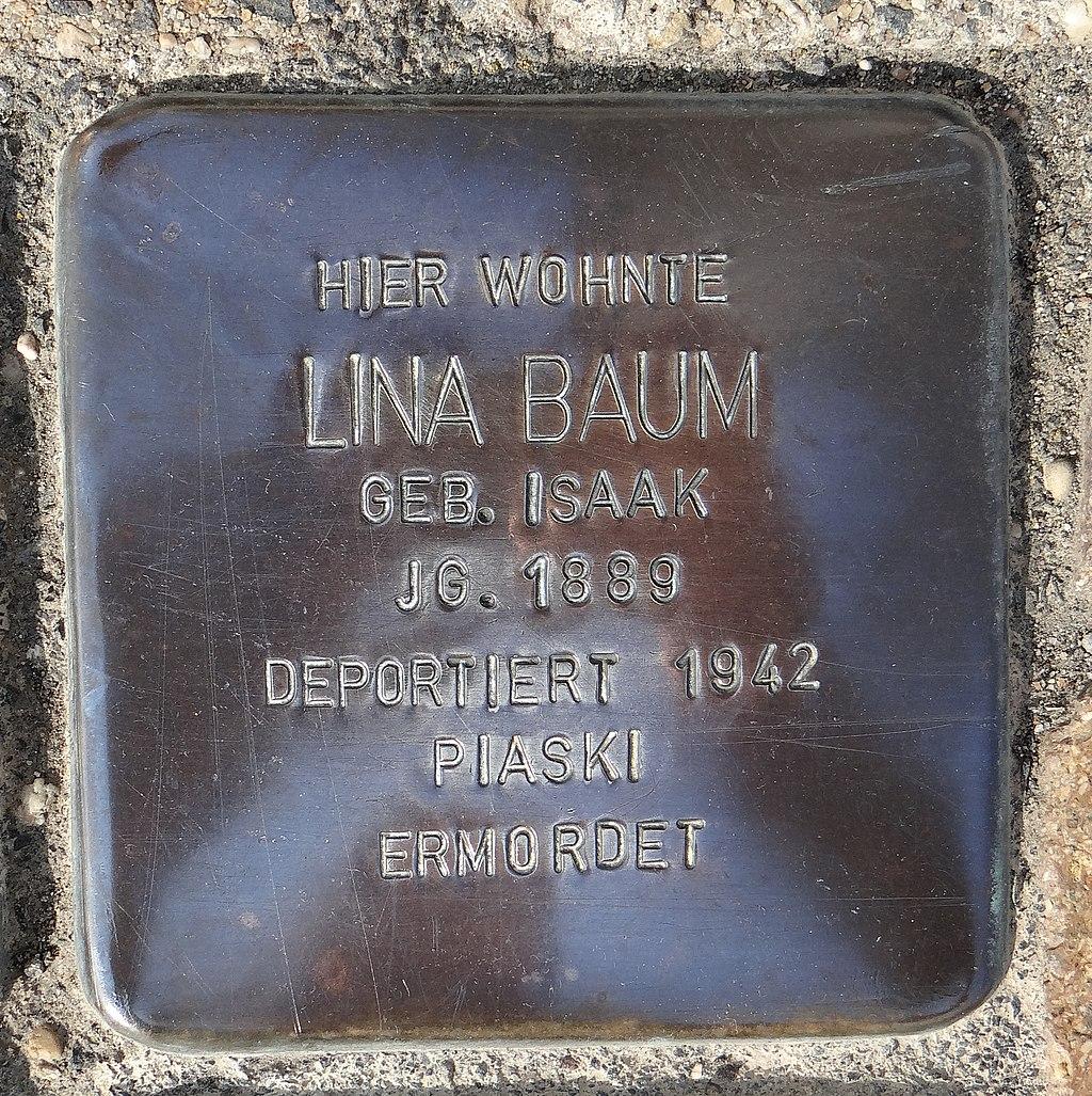 Undenheim Stolperstein Staatsrat-Schwamb-Straße 74 Lina Baum.jpg