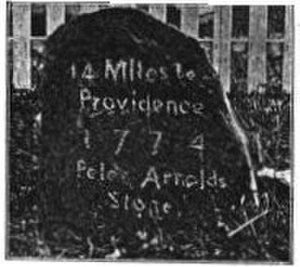 Union Village, Rhode Island - Image: Union village milestone
