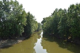 Blanchard Township, Hancock County, Ohio - The Blanchard River north of Benton Ridge