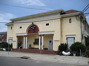 "Milan, New Orleans - ""Fine Arts Theater"" building in the Milan neighborhood"
