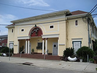 """Milan, New Orleans - """"Fine Arts Theater"""" building in the Milan neighborhood"""