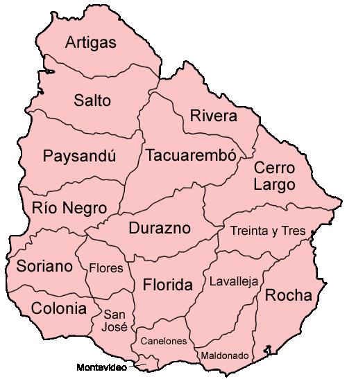 Uruguay departments named