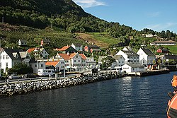 View of Utne in Ullensvang