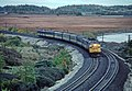 VIA 6537 east end of Kingston ON., looking toward Kingston Mills in October 1981 02 (31366658653).jpg