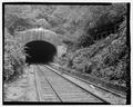 VIEW EAST, WESTERN PORTAL - New York, West Shore and Buffalo Railroad, Weehawken Tunnel, Weehawken, Hudson County, NJ HAER NJ,9-WEEHK,1A-2.tif