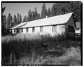 VIEW OF BACKSIDE, Looking West - Ochoco Ranger Station, Vehicular Storage Structure, Prineville, Crook County, OR HABS ORE,7-PRINV.V,1B-6.tif