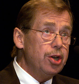 Czech President Vaclav Havel
