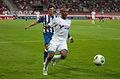 Valais Cup 2013 - OM-FC Porto 13-07-2013 - André Castro et André Ayew 2.jpg
