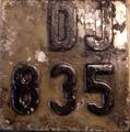 Valamikori, 1937 -es Rendszámtábla..png
